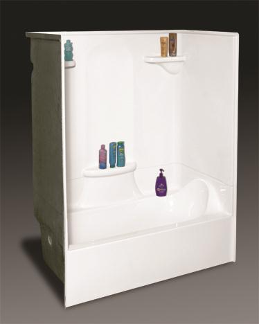 Kohler One Piece Shower Units  Kinro Mobile Home 3 White Tile Surround A Basic Tub